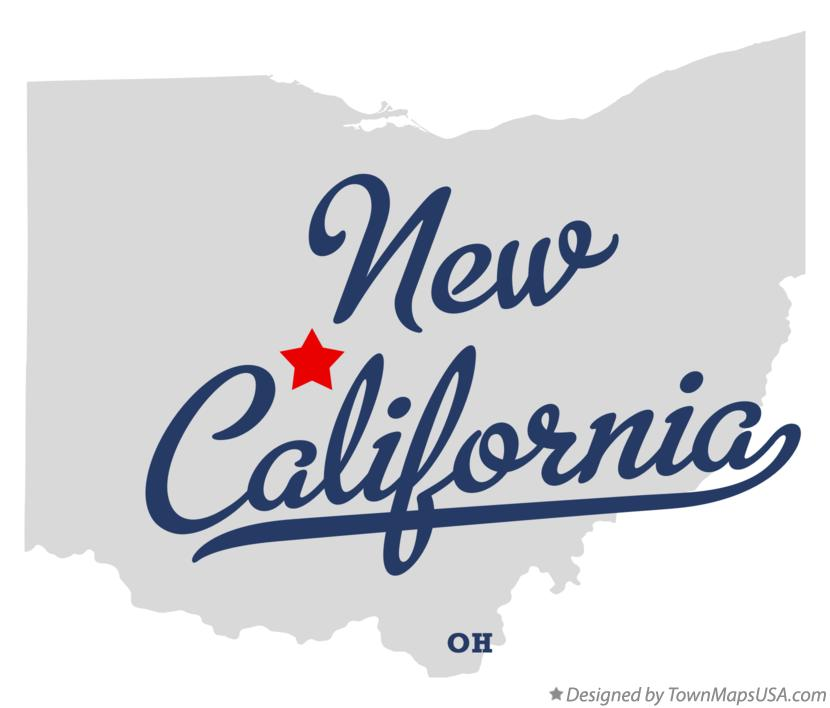 Map of New California Ohio OH