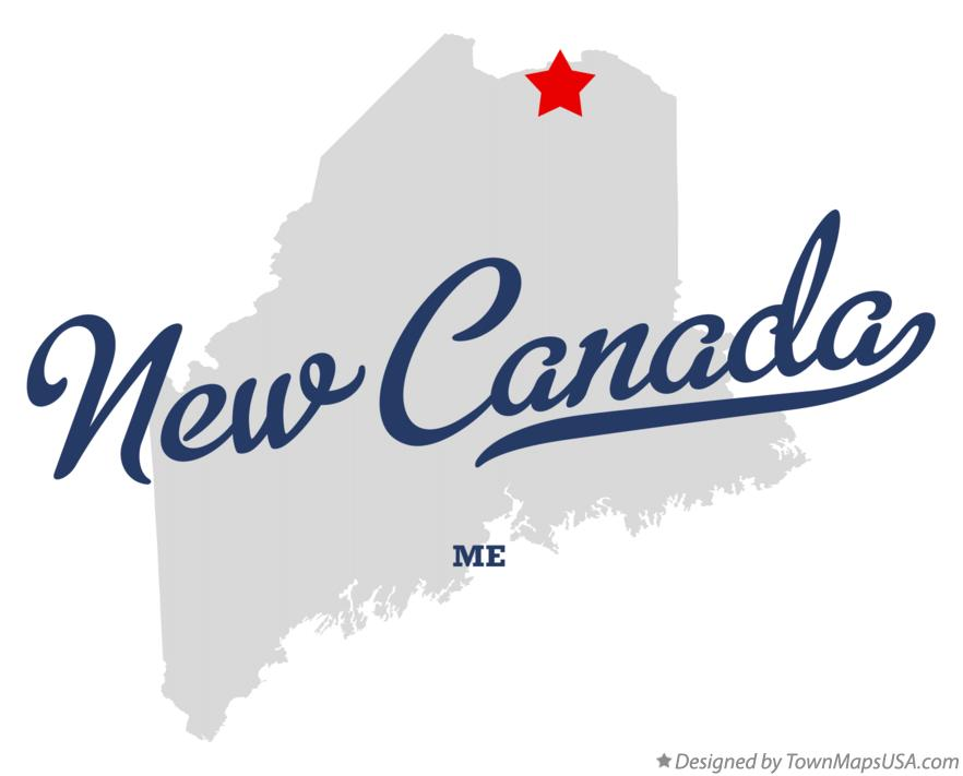 Map of New Canada Maine ME