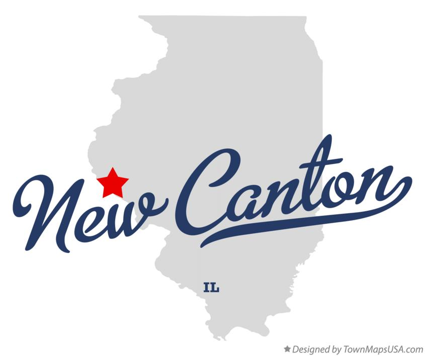 Map of New Canton Illinois IL