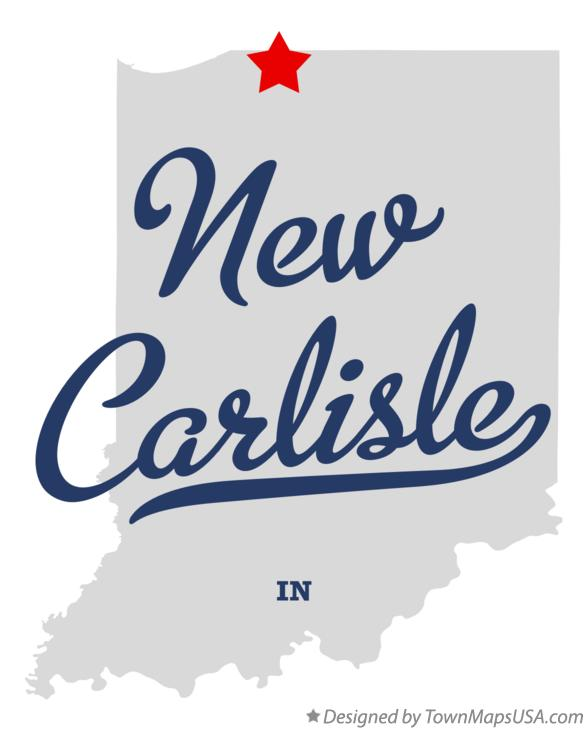 Map of New Carlisle Indiana IN