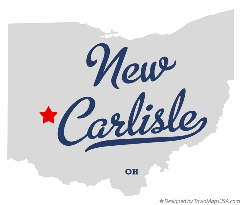 Map of New Carlisle Ohio OH