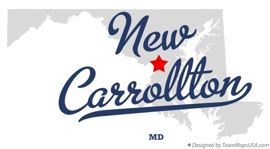 Map of New Carrollton Maryland MD
