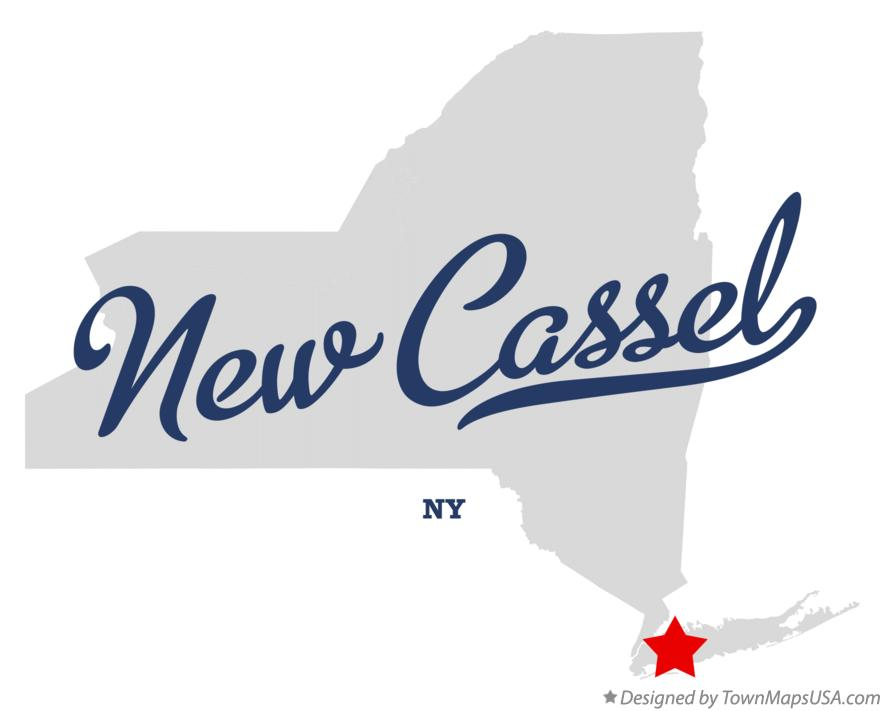 Map of New Cassel New York NY