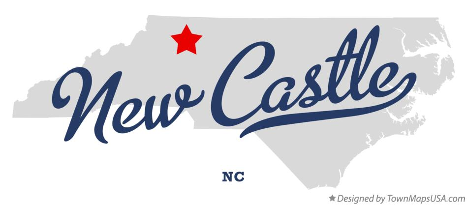 Map of New Castle North Carolina NC
