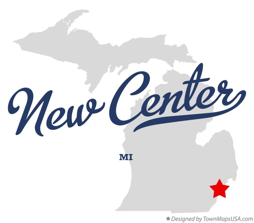 Map of New Center Michigan MI