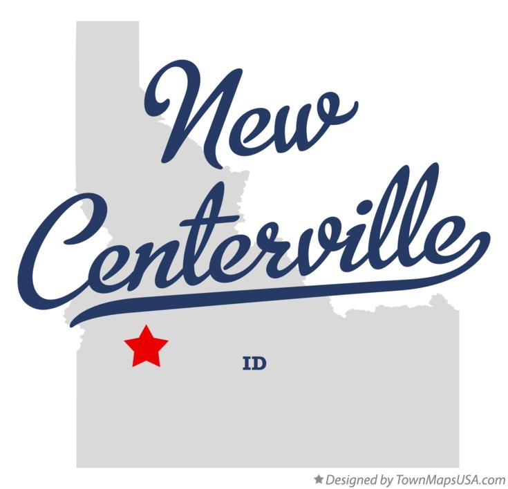 Map of New Centerville Idaho ID