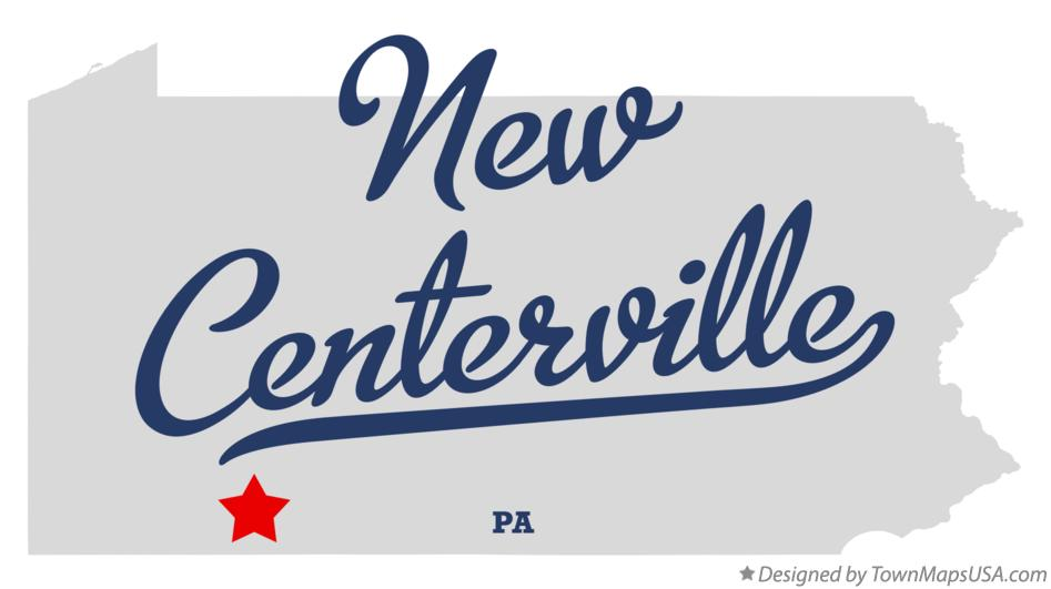 Map of New Centerville Pennsylvania PA