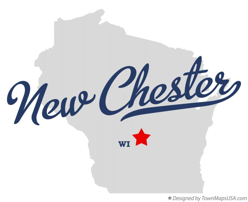 Map of New Chester Wisconsin WI