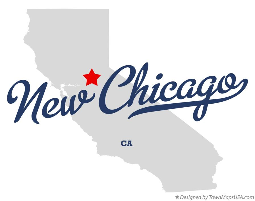 Map of New Chicago California CA