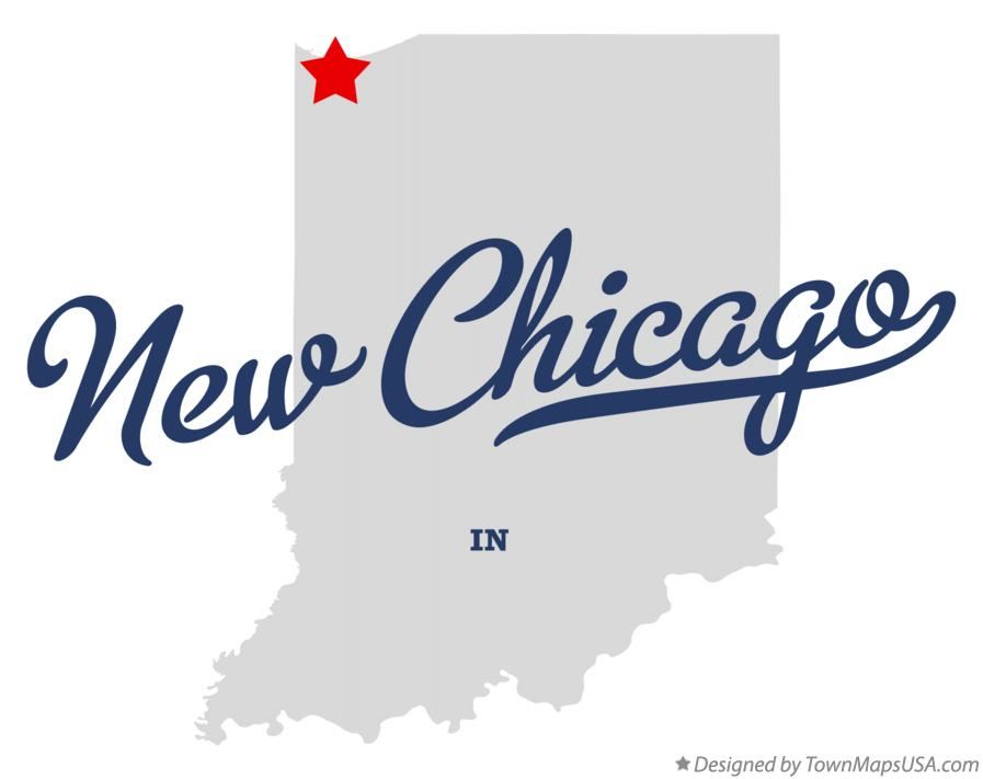 Map of New Chicago Indiana IN