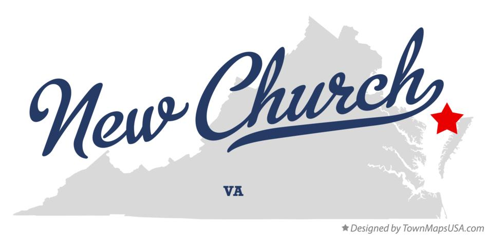 Map of New Church Virginia VA