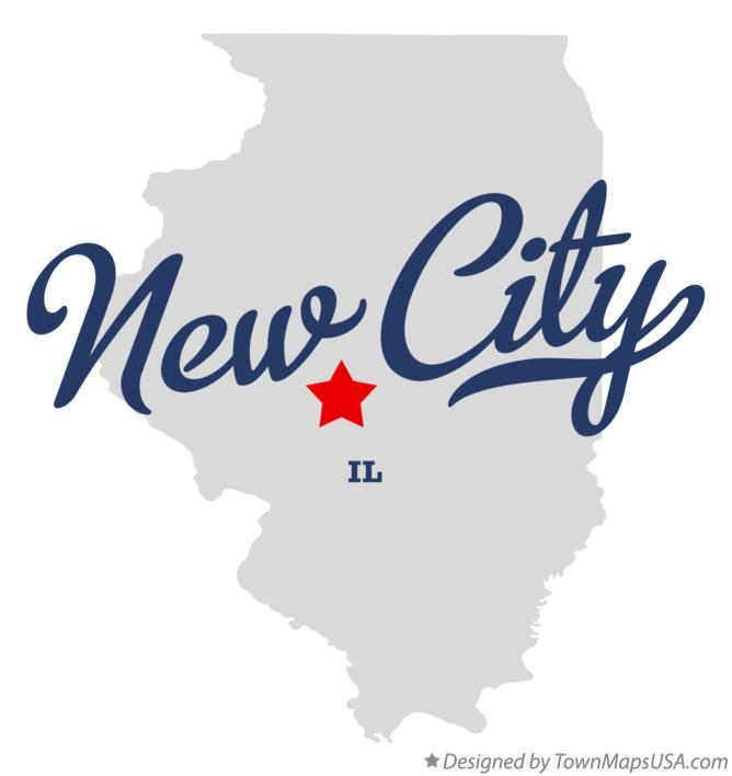 Map of New City Illinois IL