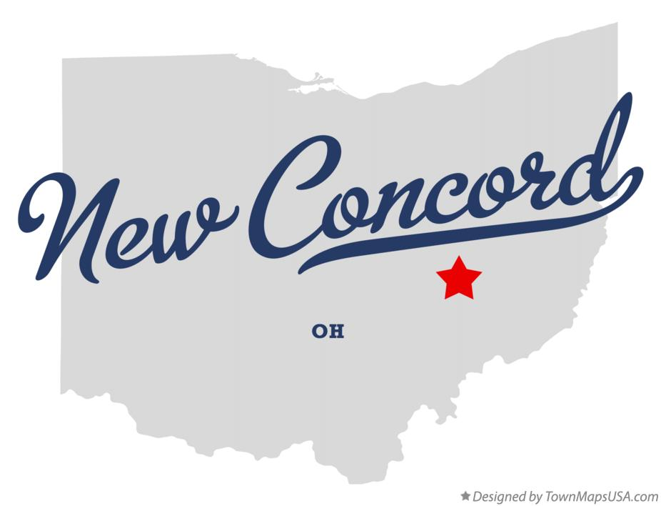 Map of New Concord Ohio OH
