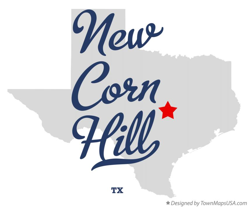 Map of New Corn Hill Texas TX