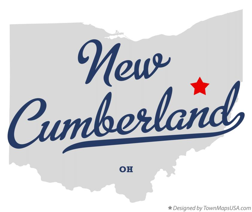 Map of New Cumberland Ohio OH