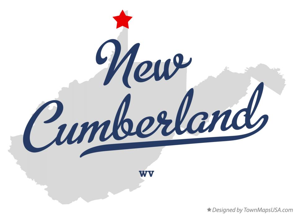 Map of New Cumberland West Virginia WV