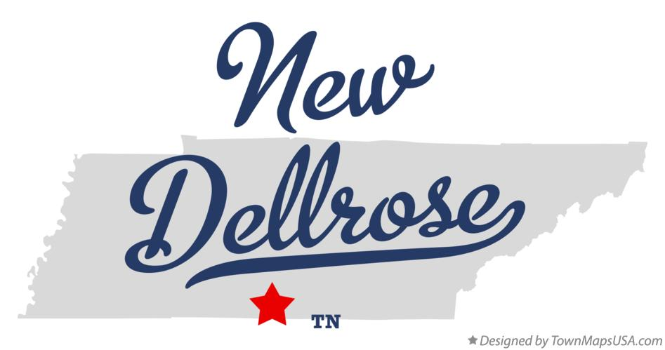 Map of New Dellrose Tennessee TN
