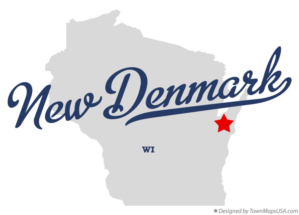 Map of New Denmark Wisconsin WI
