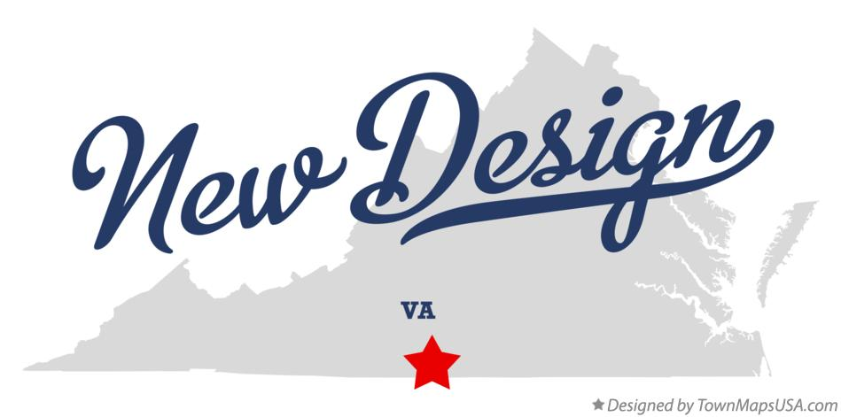 Map of New Design Virginia VA