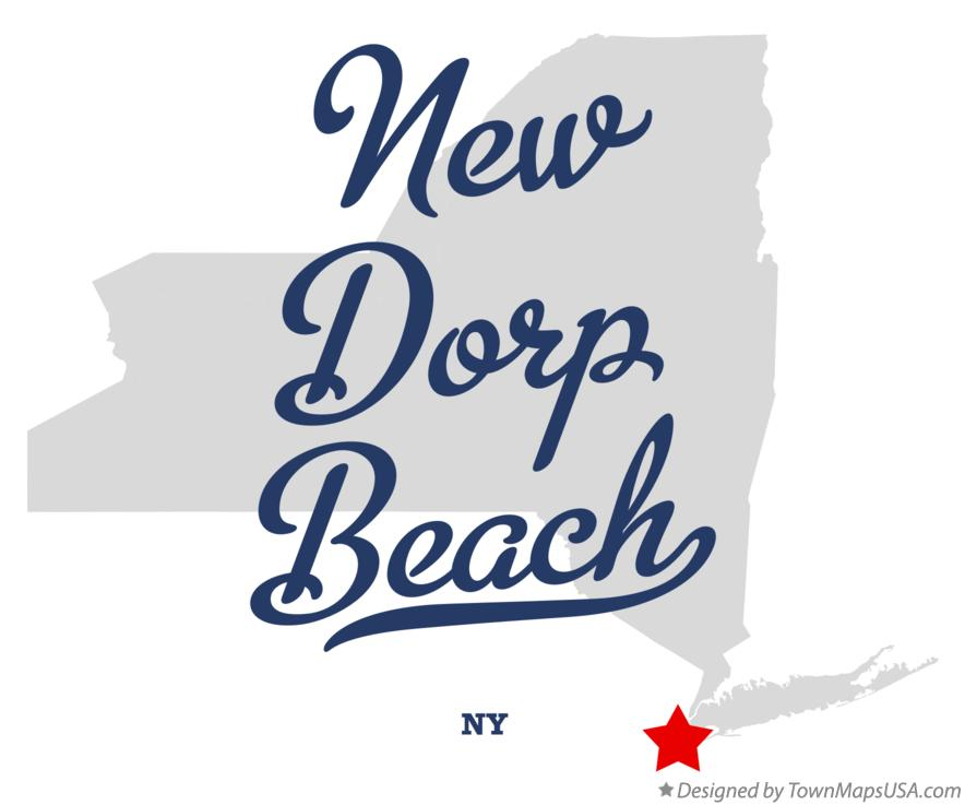 Map of New Dorp Beach New York NY