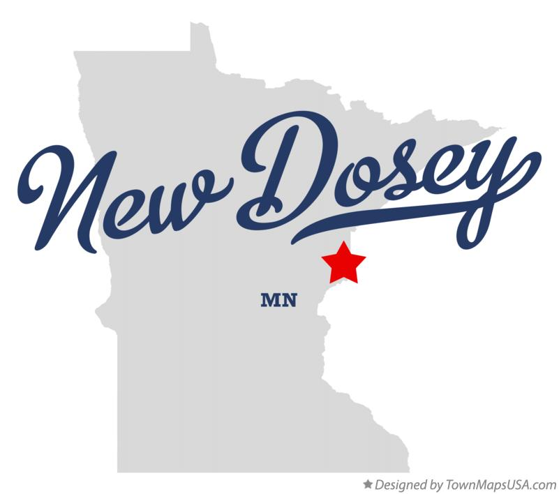 Map of New Dosey Minnesota MN