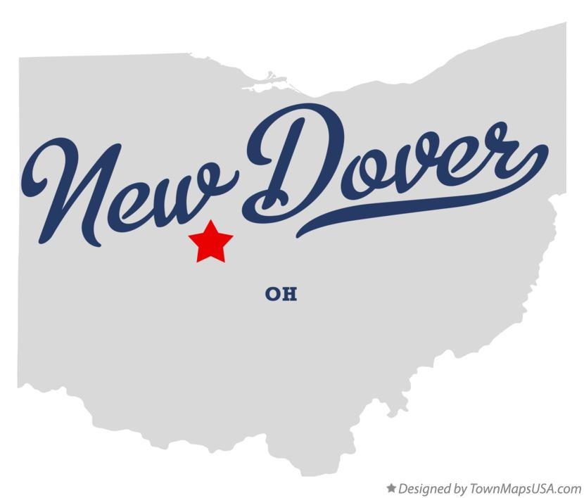 Map of New Dover Ohio OH