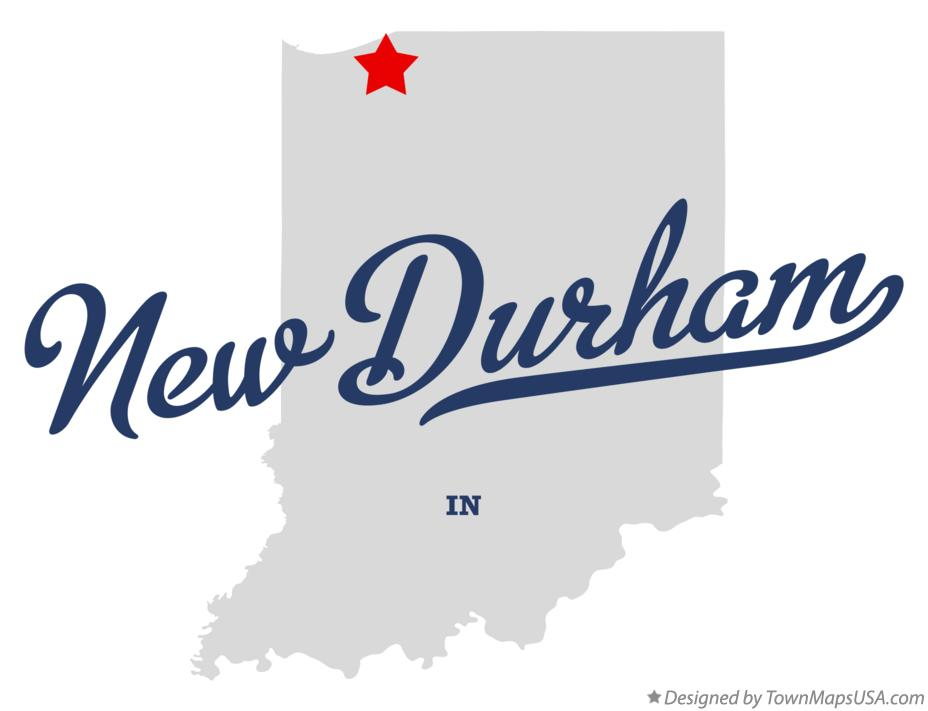 Map of New Durham Indiana IN