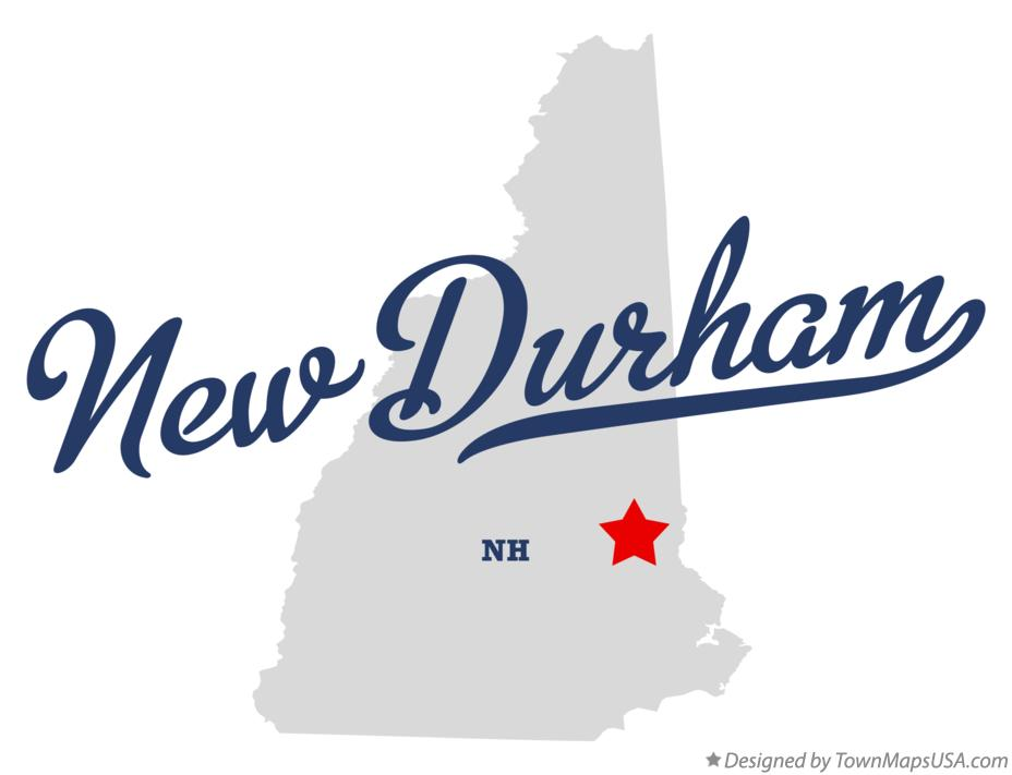 Map of New Durham New Hampshire NH