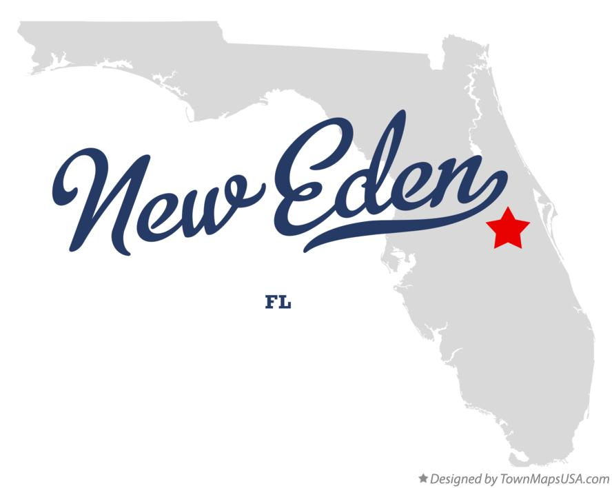 Map of New Eden Florida FL