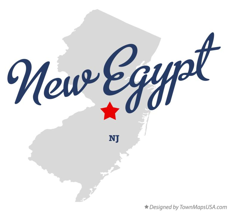 Map of New Egypt New Jersey NJ