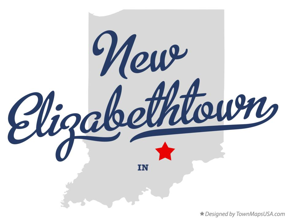 Map of New Elizabethtown Indiana IN