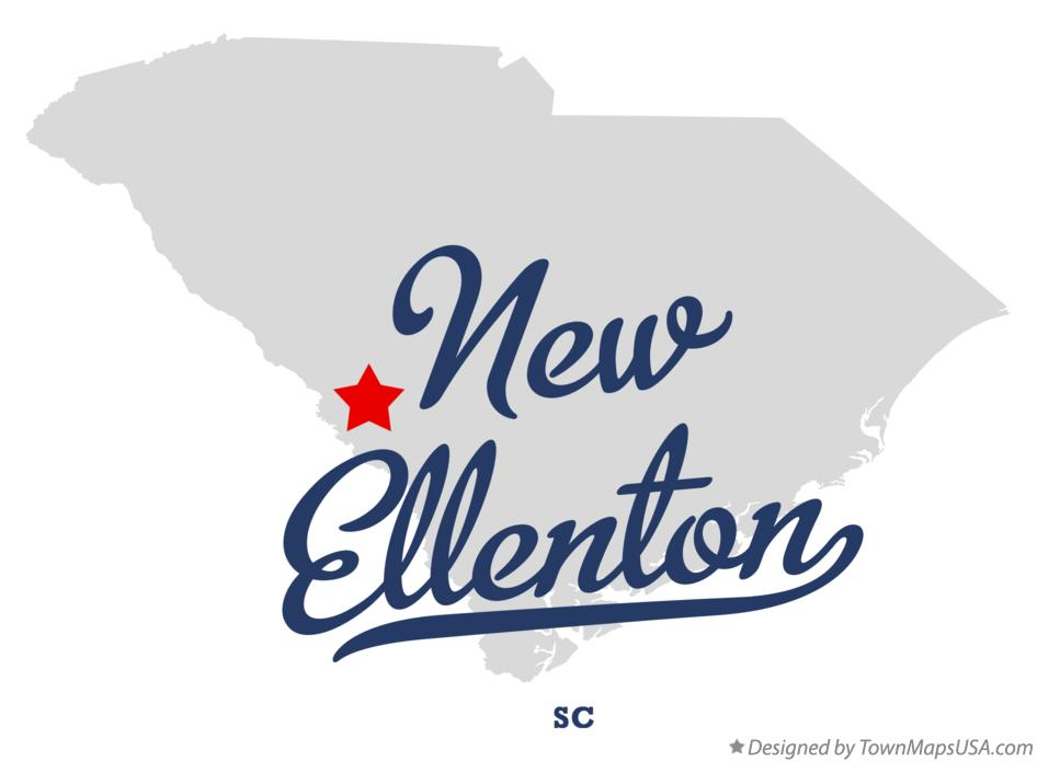 Map of New Ellenton South Carolina SC