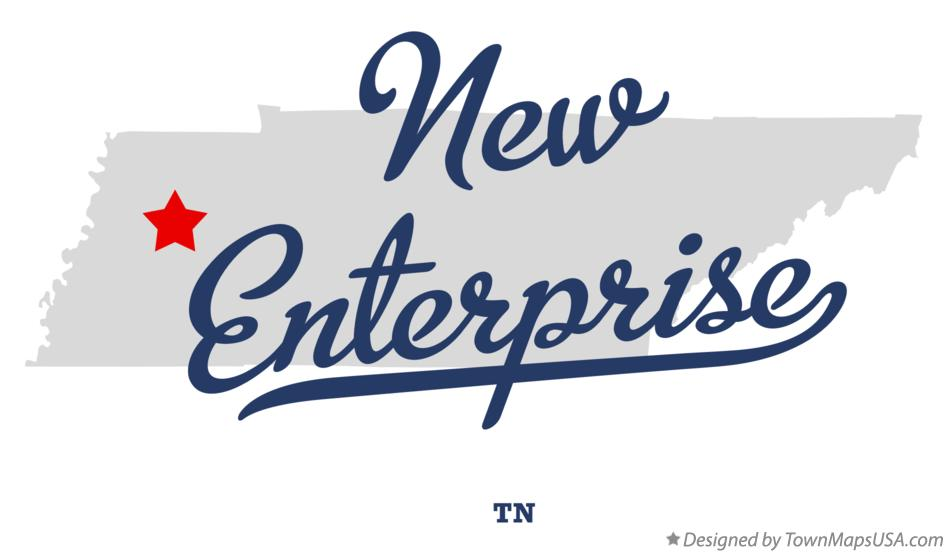 Map of New Enterprise Tennessee TN