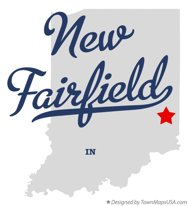 Map of New Fairfield Indiana IN