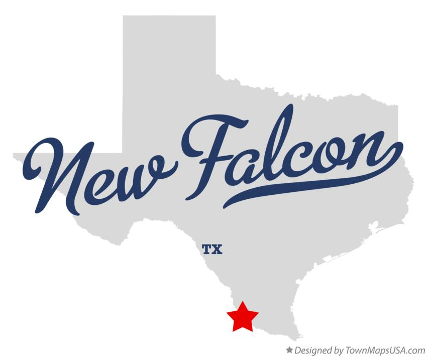 Map of New Falcon Texas TX