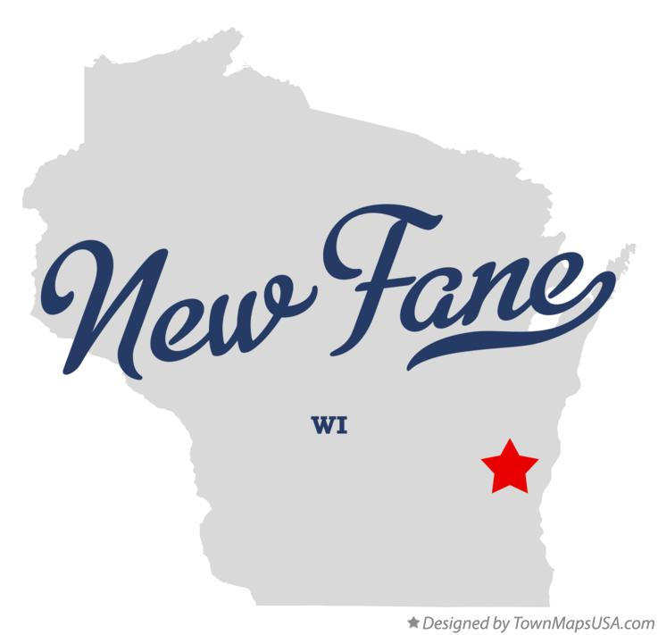 Map of New Fane Wisconsin WI