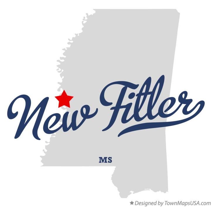 Map of New Fitler Mississippi MS