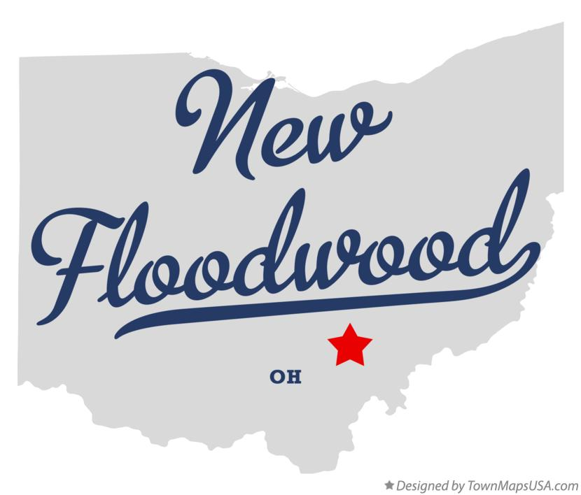 Map of New Floodwood Ohio OH