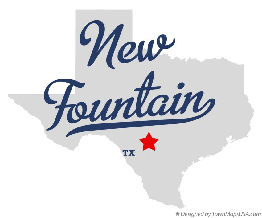 Map of New Fountain Texas TX