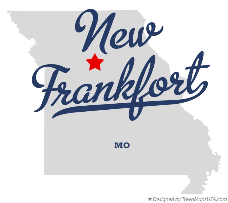 Map of New Frankfort Missouri MO