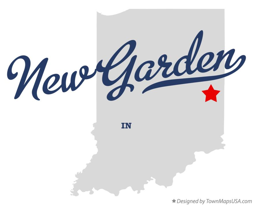 Map of New Garden Indiana IN