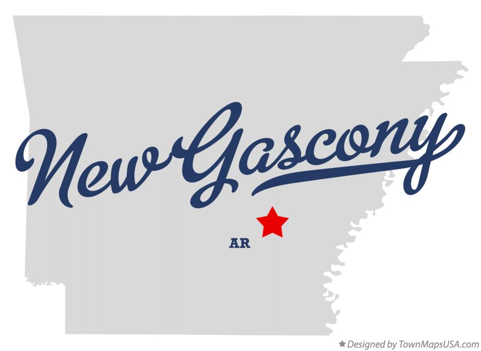 Map of New Gascony Arkansas AR