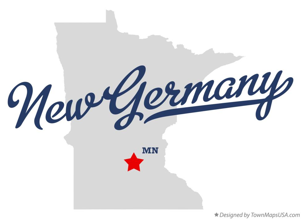 Map of New Germany Minnesota MN
