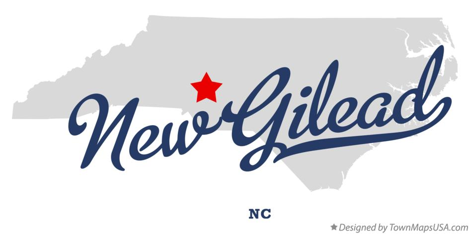 Map of New Gilead North Carolina NC