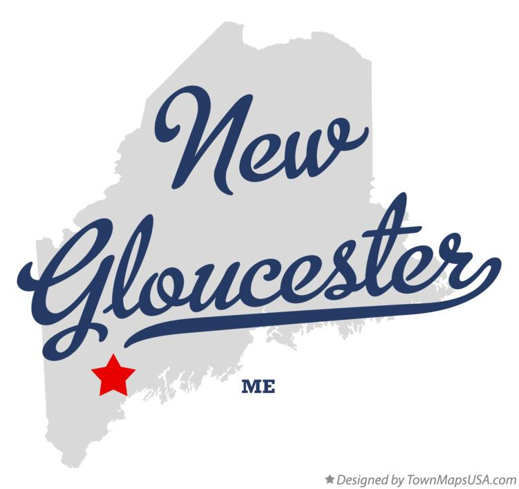 Map of New Gloucester Maine ME