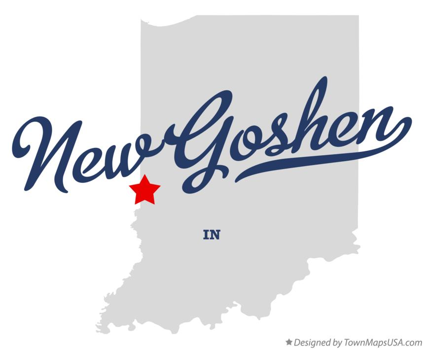 Map of New Goshen Indiana IN