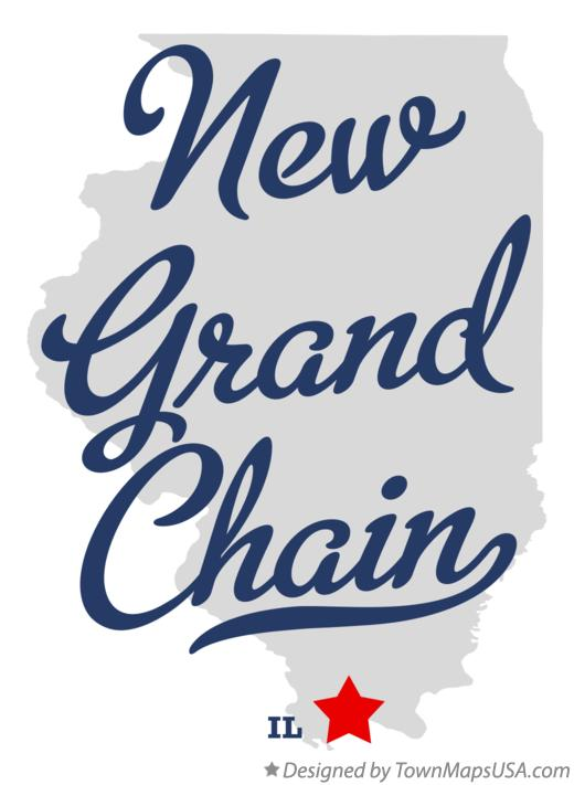 Map of New Grand Chain Illinois IL