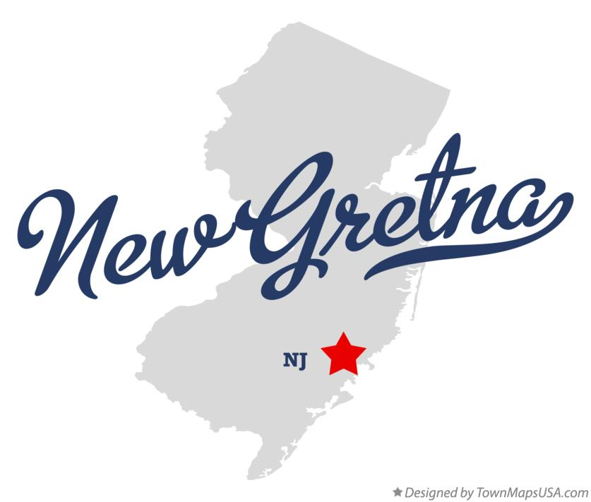 Map of New Gretna New Jersey NJ