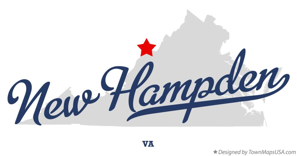 Map of New Hampden Virginia VA