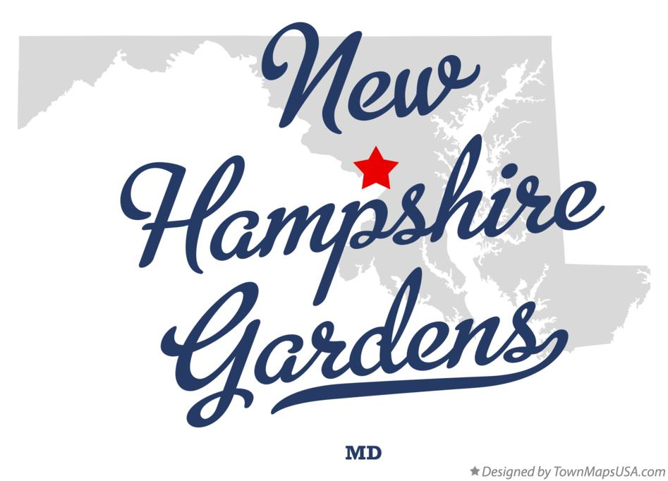 Map of New Hampshire Gardens Maryland MD